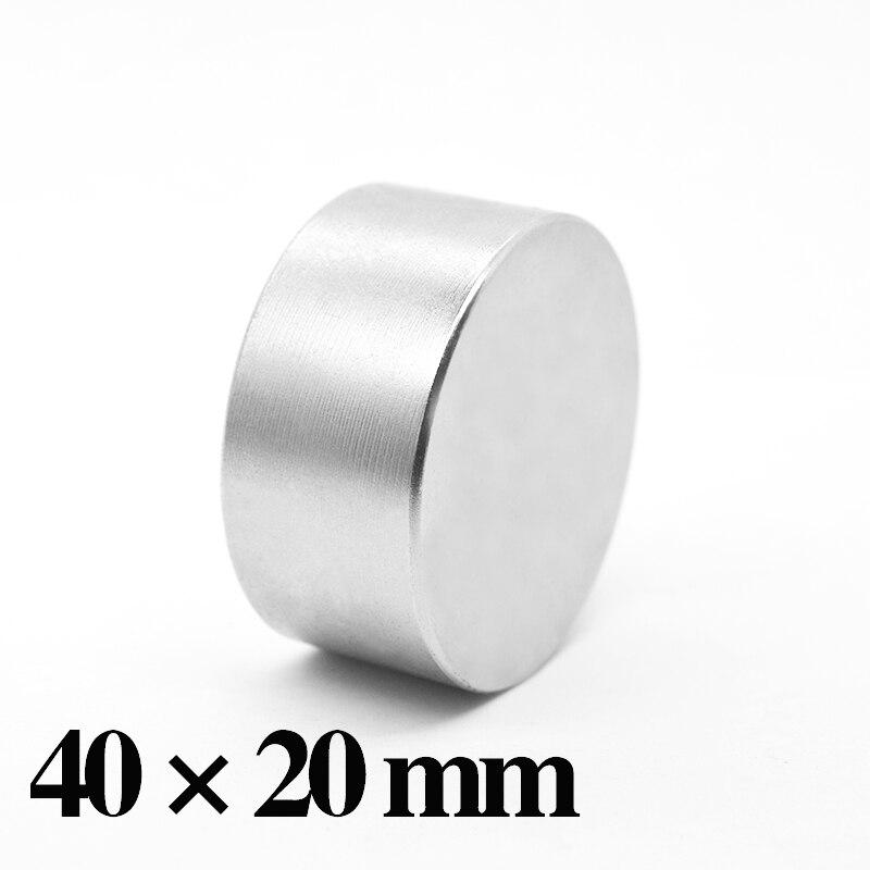 HYSAMTA 1 Stück N52 Neodym Magnet 40x20 Permanent NdFeB Super Starke Leistungsstarke Runde Magnetische Magneten Disc 40 * 20mm