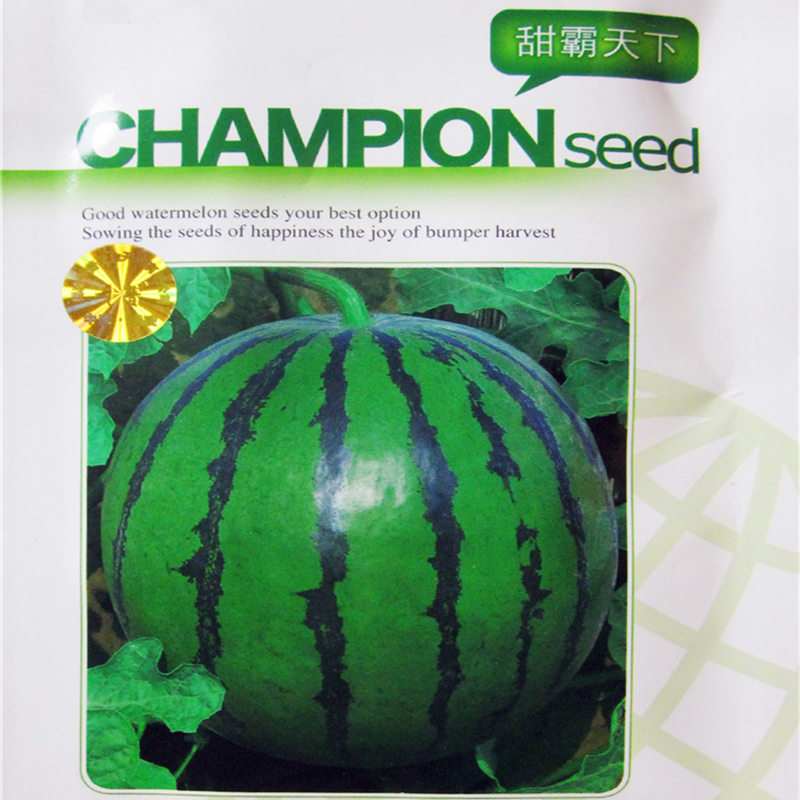 Original Package 25G Hybrid F1 Green Color Red  Flesh Champion Watermelon Seeds Super Sweet Juicy Edible Melon fruits seeds