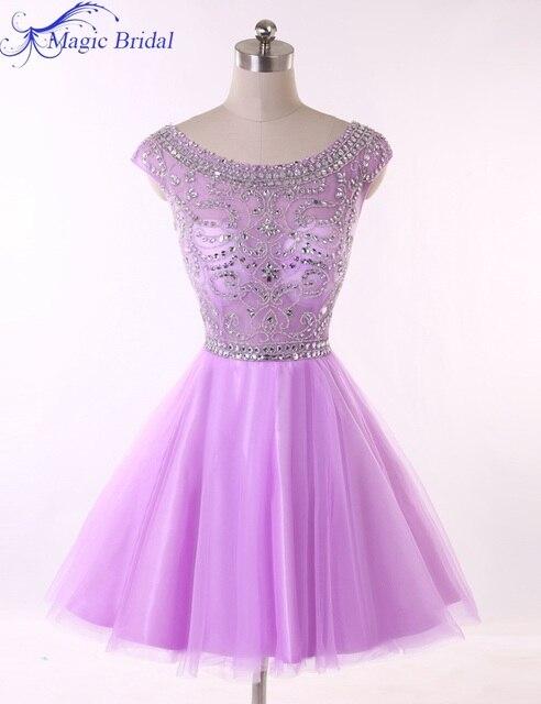 Vestidos de fiesta lila cortos