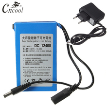Cncool DC1240 12V 4000MAH Rechargeable Portable Lithium-ion Battery DC 4000mAh DC12400 With US/EU Plug Drop shipping