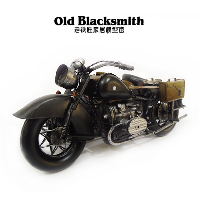 US $114 0 5% OFF Aliexpress com : Buy 2 Color Motor Style Retro World War  II Germany R12 Motorcycle Model Creative Gift Home Bar Decoration from
