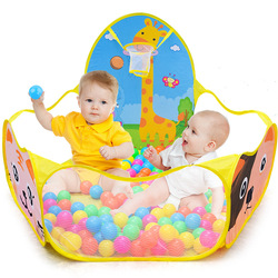 Baby Ball Pits Portable Ball Pool Foldable Cute Ocean Ball Game Series Fence Child Outdoor Sports Educational Toy Gift For Baby