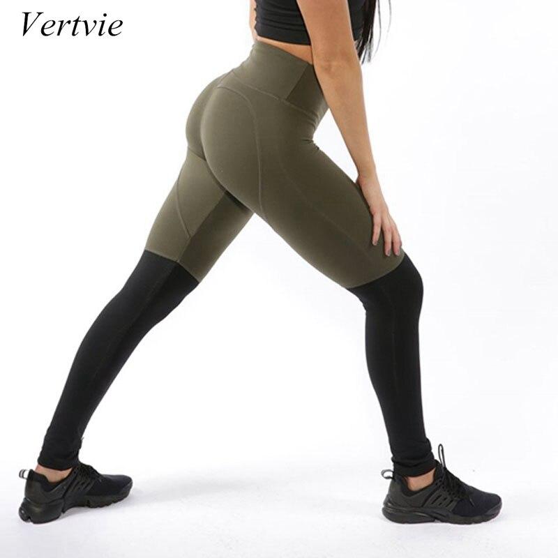 vertvie New Patchwork Heart Pattern Running Pants Women Sweat Pants Elastic Jogger Yoga Pants Gym Fitness Slim Trousers Exercise
