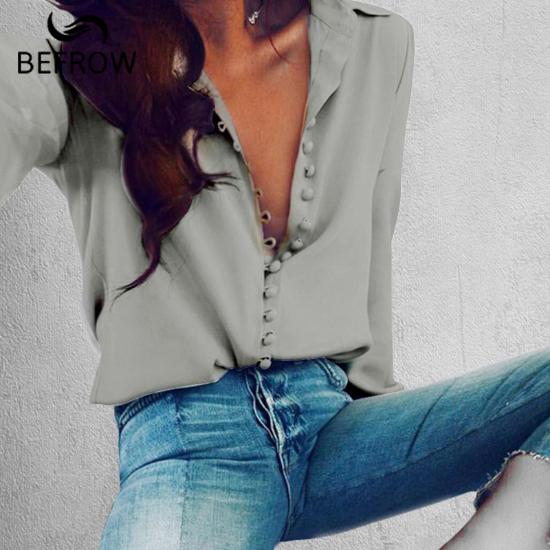 Antes de moda blusa Tops para mujer elegante manga larga negro blanco blusa camisa Casual Streetwear algodón botón blusa