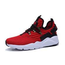 Spring 2019 New Mens Leisure Shoes Fashion Flying Weave Shoe Skorean Edition Students