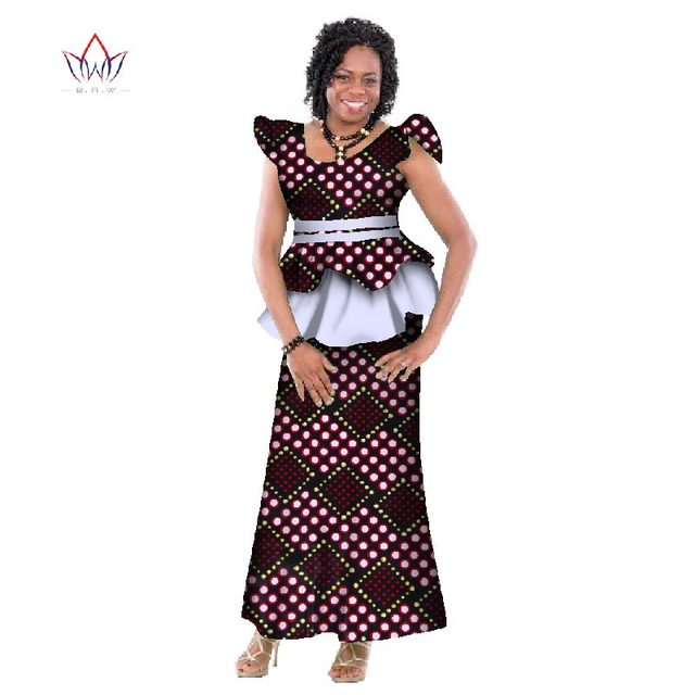 b07400bc3df5be € 45.7 6% de réduction|Mode nouveau Bazin Riche africain cire impression  jupe vêtements personnalisés africain Dashiki tissu grande taille jupe ...