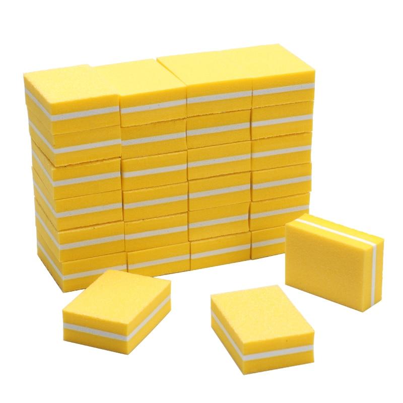 100pcs Professional Nail File 100/180 Mini Nail Block Sponge UV Gel Polish Polishing Files Manicure Lime A Ongle Nail Buffers
