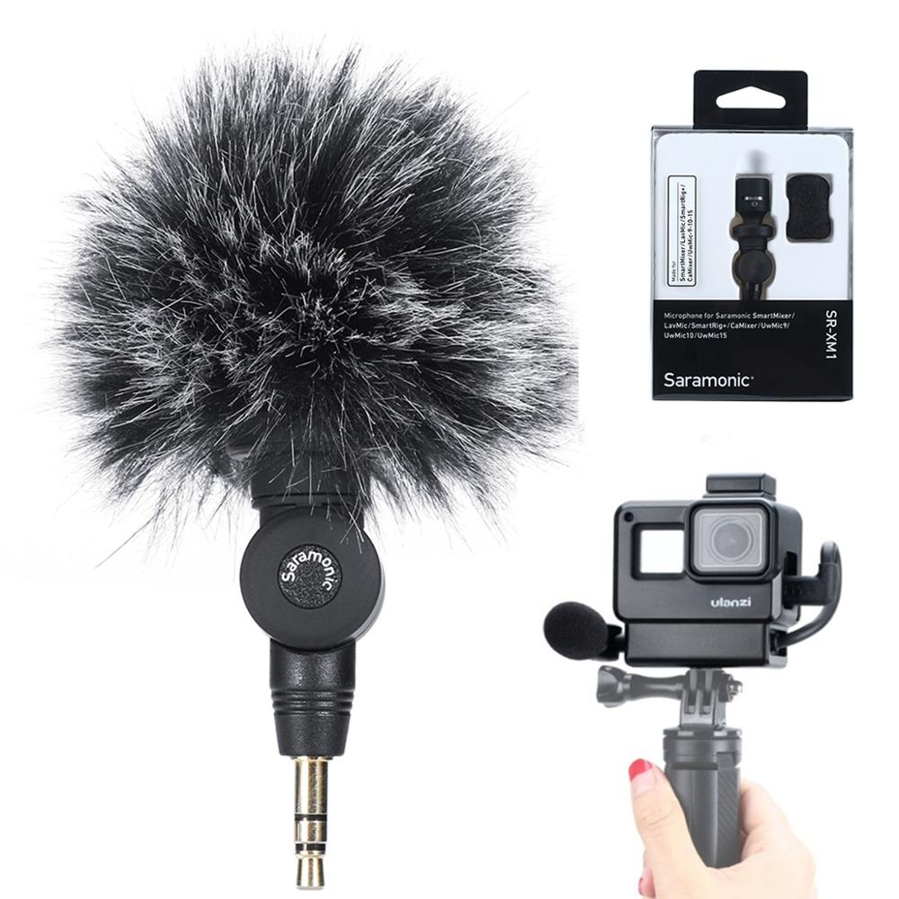 Saramonic SR-XM1 3.5mm TRS Microphone Plug And Play Mic For DSLR Cameras Camcorders Muff Windshield Gift With V2 /V2 Pro Cage