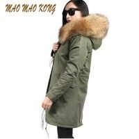 2017 Winter Coat Women Fashion European Stlye Detachable Fur Liner Women S Winter Jacket Long Large