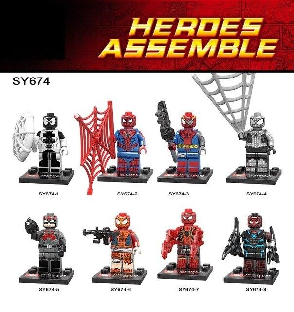 80pcs/lot SY674 Super Heroes Assemble s Venom Spider man ...