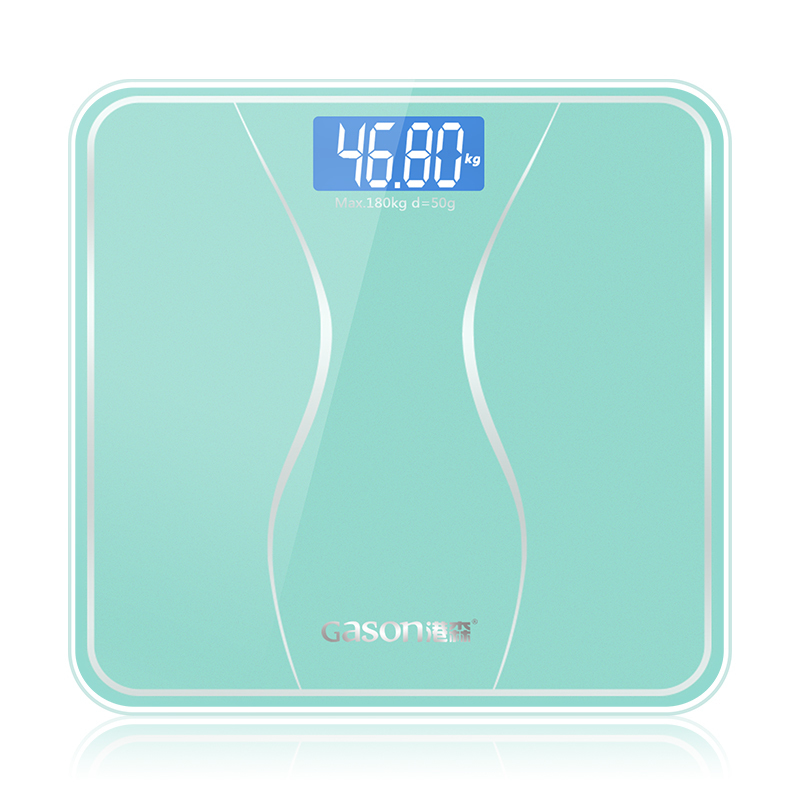 GASON A2s Bathroom Body Scale Floor Smart Electronic Digital Weight Home Health Balance Toughened Glass LCD Display 180kg/50g