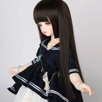 Bebek aksesuarları 1/3 1/4 1/6 Bjd peruk doll saç peruk uzun düz patlama prenses bıçak japon tarzı sevimli serin kız kadın-a02