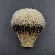26mm/67 fijnste silvertip dassenhaar Mannen baard borstel hoofd scheerkwast knoop voor 26mm handvat