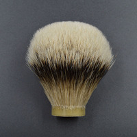 26mm/67 finest silvertip Badger hair Men beard brush head shaving brush knot for 26mm handle