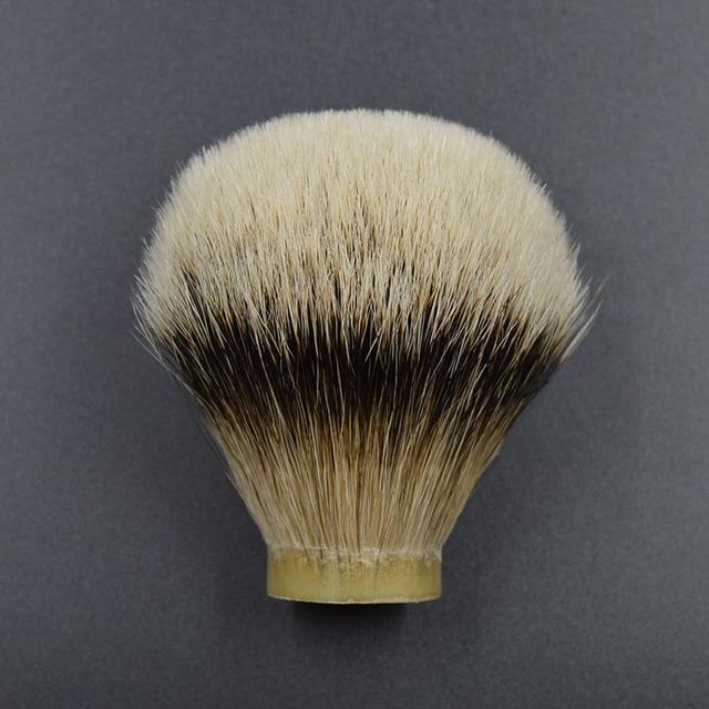 26mm/67 meilleur silvertip blaireau cheveux hommes barbe brosse tête rasage brosse noeud pour 26mm poignée
