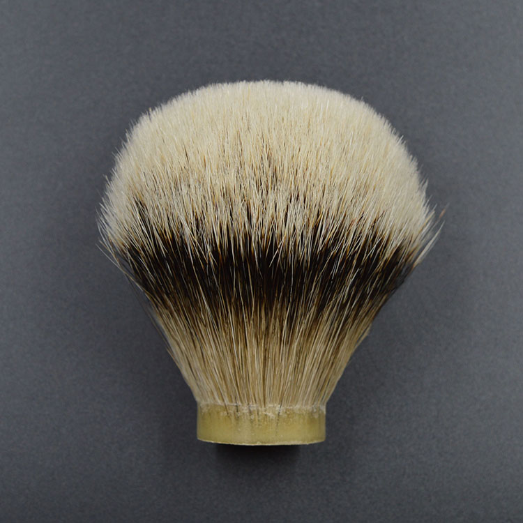 купить Shaving Brush Knot head finest silvertip Badger hair Men beard brush head size26/67for 26mm handle по цене 1563.94 рублей