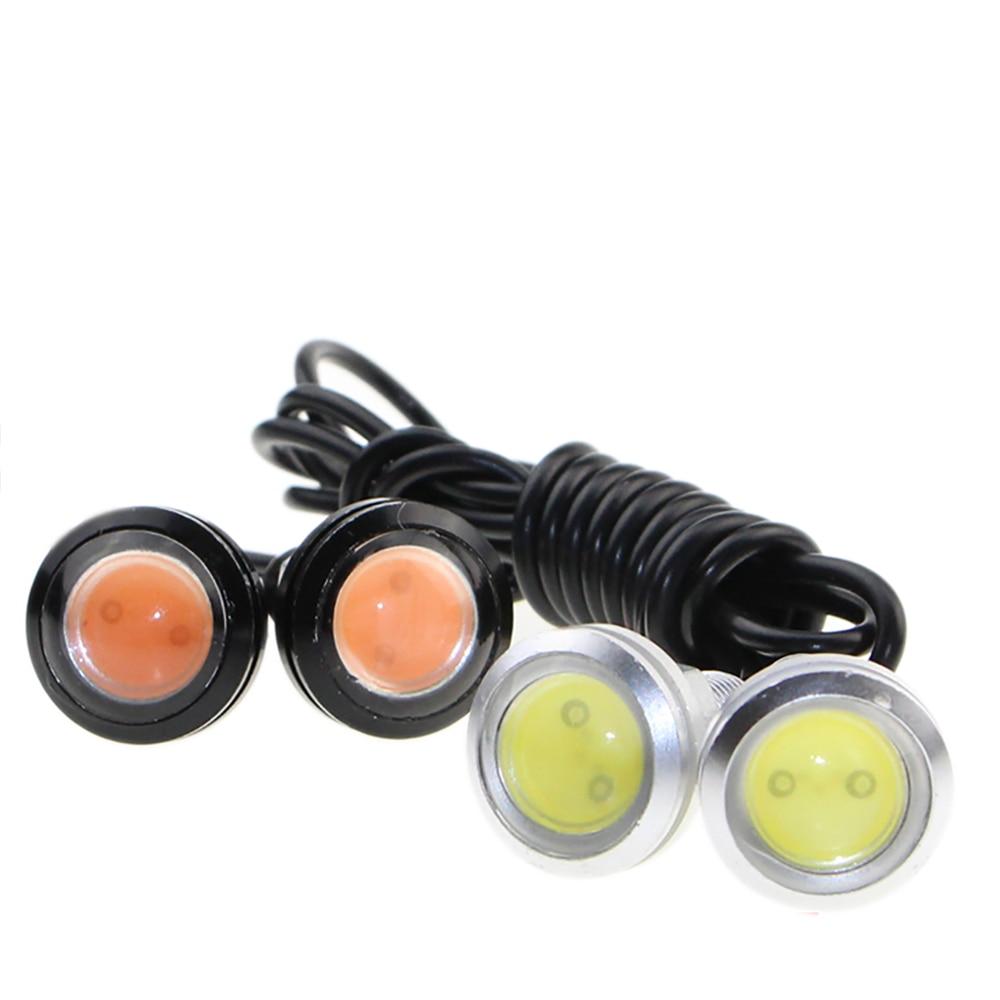 CHAVE 2 PCS 23 MM branco Olho de Águia DRL auto carro led luzes - Faróis do carro - Foto 4