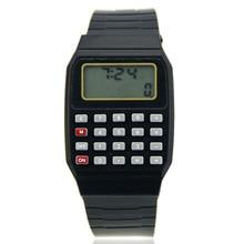Новые Детские Силиконовые многофункциональные детские электронные часы-калькулятор