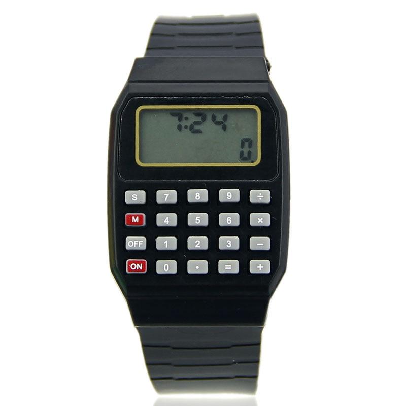 2018 New Fad Children Silicone Date Multi-Purpose Kids Electronic Calculator Wrist Watch