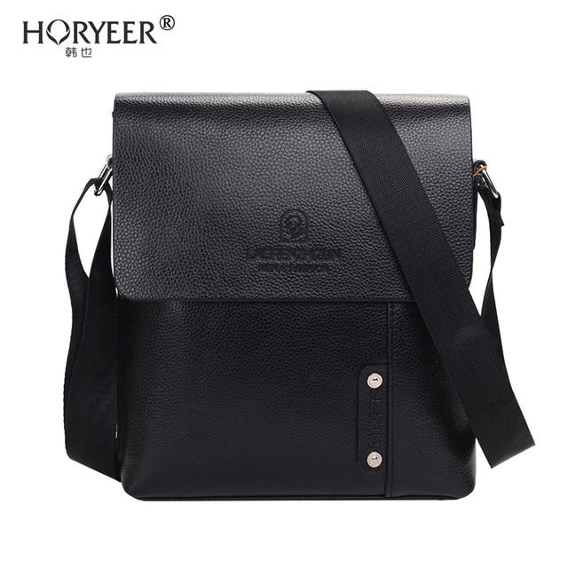 b35af55c9466 HORYEER sacoche homme marque luxe Briefcase crossbody Bag Men Business  Shoulder Leather Bag sac male travel messenger bags