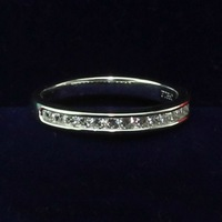 Hot Brand 100% Pure Silver 925 Female Wedding Ring Narrow Band Half Set Synthetic Diamond Elegant Ring Women Top Quality Gifts