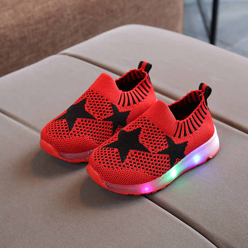 Kids LED Shoes 2019 New Toddler Children Luminous Sneakers Boys LED Flashing girls Casual Shoes with lights EUR 22-31