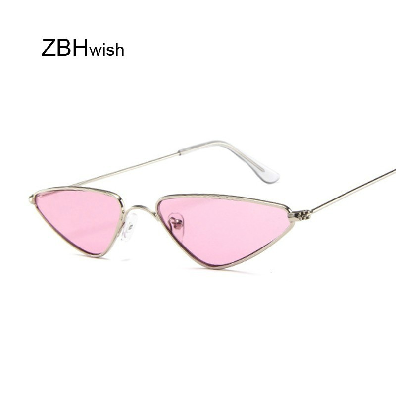2020 Pink Women Cat Eye Sunglasses Cute Sexy Brand Designer Summer Retro Small Frame Black Red Cateye Sun Glasses