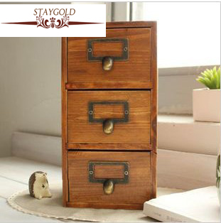 Zakka Storage Grocery Wooden Box Wood Boxes Drawers Box To Storage ...