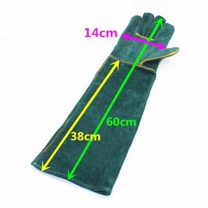Image 3 - Anti bite veiligheid bite handschoenen voor Catch hond, kat, reptiel, dier Ultra lange lederen groene Huisdieren grijpen bijten beschermende handschoenen