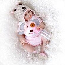 48CM premie bebe doll reborn baby sweet twins in pink and blue full body soft silicone lifelike soft baby  doll Bath toy  Anatom