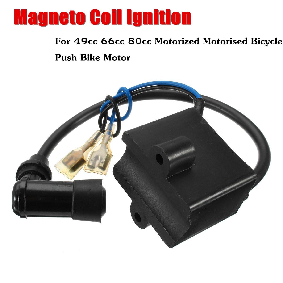 Magneto de bobina de encendido CDI para Motor de bicicleta motorizado de 2 tiempos 49cc 66cc 80cc