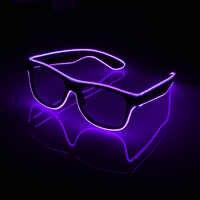 Gafas parpadeantes EL alambre LED gafas brillantes fiesta suministros iluminación novedad regalo luz brillante Festival Fiesta brillo gafas de sol
