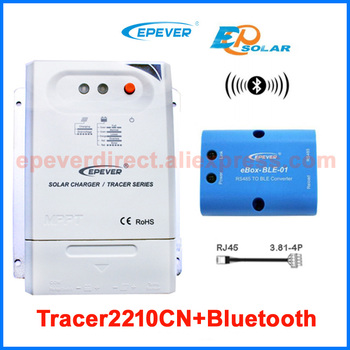 controller for 12V 260W 24V 520W solar panels charger system work Tracer2210CN 20amp 20A bluetooth function BLE BOX