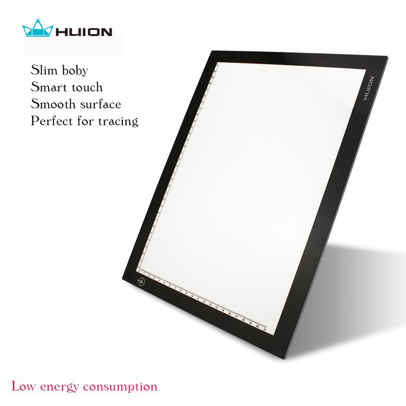 "Hot Koop Huion L4S 17.7 ""LED Light Pad Ultradunne Lichtbak LED Tracing Borden Professionele Animatie Tekening Tracing Panel"