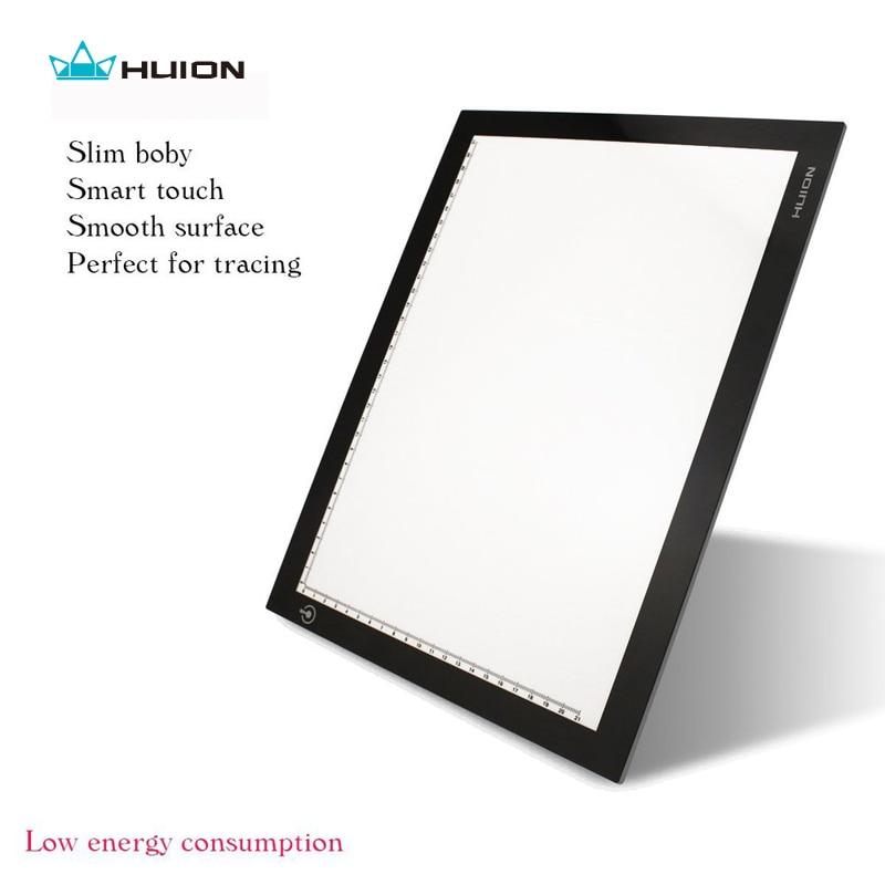"""Venda quente huion l4s 17.7 """"led light pad ultra fino caixas de luz led rastreamento placas animação profissional desenho rastreamento painel"""