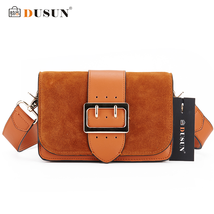 цены на DUSUN Brand Designer Women Shoulder Bag 2018 New Fashion Genuine Leather Women Bags Cow Leather Handbags christmas Female Bolsa