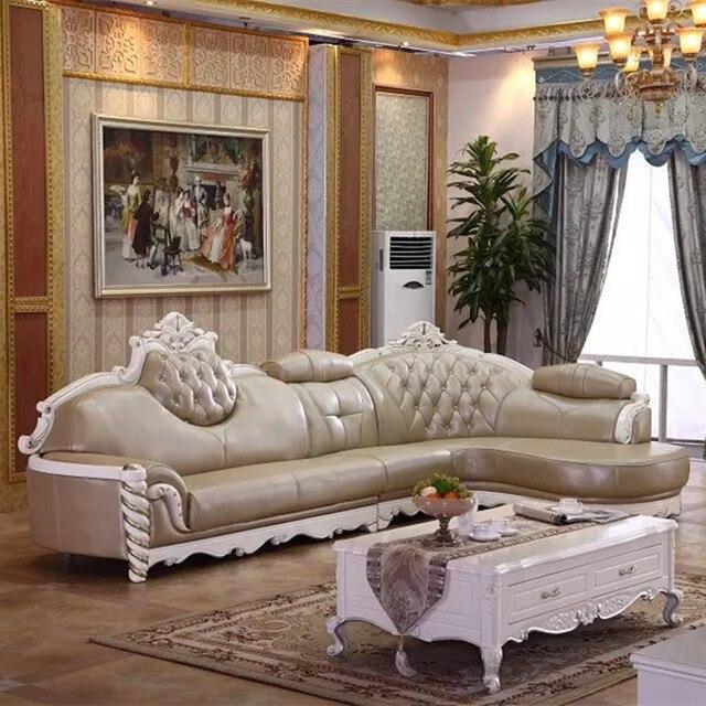 2015 de cuero sof muebles juego de sala tipo europa lujo - Ikea muebles de sala ...