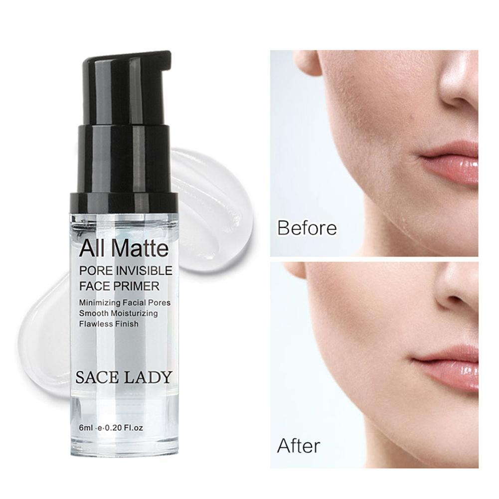 Invisible Pore Foundation Soft Matte Long Wear Oil Control Concealer Liquid Foundation Cream Womens Makeup Face Full Cover 6ml