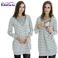 Emotion Moms Winter Breastfeeding tops Nursing Top Maternity pregnancy clothes for Pregnant Women Maternity Hoodies sweater