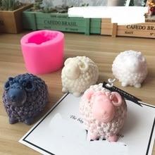 День рождения Свадьба ягненка силиконовая свеча DIY силиконовая форма для ручной работы мыло формы для творчества 3D Свеча делая подарки для детей