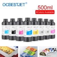 500ML/Bottle LED UV Ink For Epson DX4 DX5 DX6 DX7 Printhead For R1800 R1900 4800 4880 7880 LED UV Flatbed Ink (8 Color Optional)