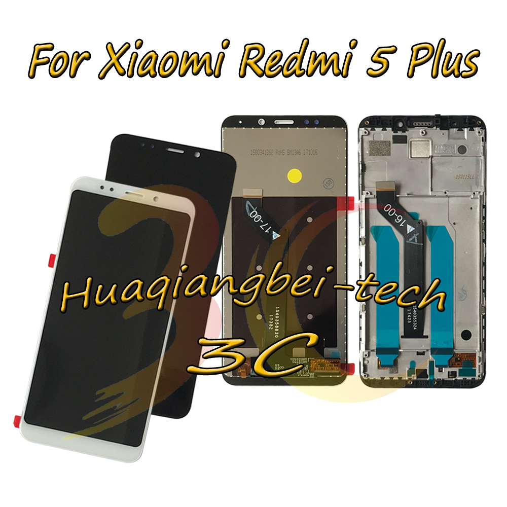 5.99'' New For Xiaomi Redmi 5 Plus / Redmi 5Plus Full LCD DIsplay + Touch Screen Digitizer Assembly + Frame Cover 100% Tested
