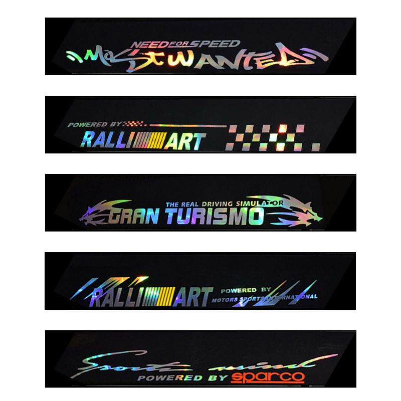 Auto Car Front Windshield Banner Strip Reflective Vinyl Decal Sticker For SPARCO