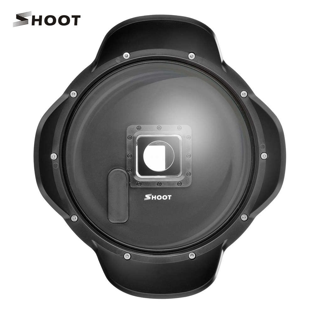 SHOOT 6 inch Underwate Dome Port Lens For GoPro Hero 4 3+ Hero4 Camera with Handheld Stabilizer Waterproof Case Go Pro Accessory