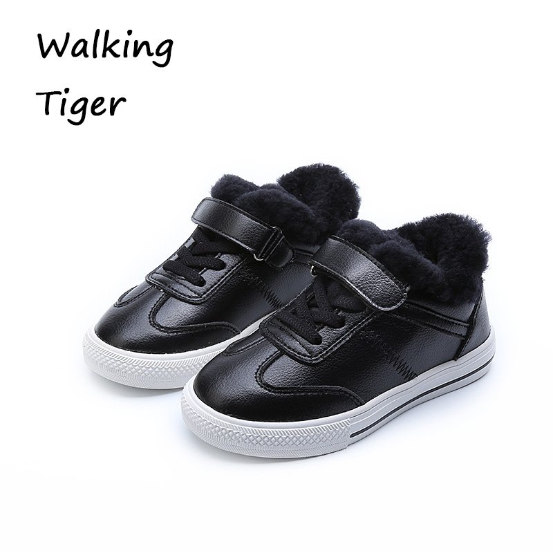 Boys girls sneakers kids shoes flat girl loafers winter fashion  2017 boy sneaker casual shoes