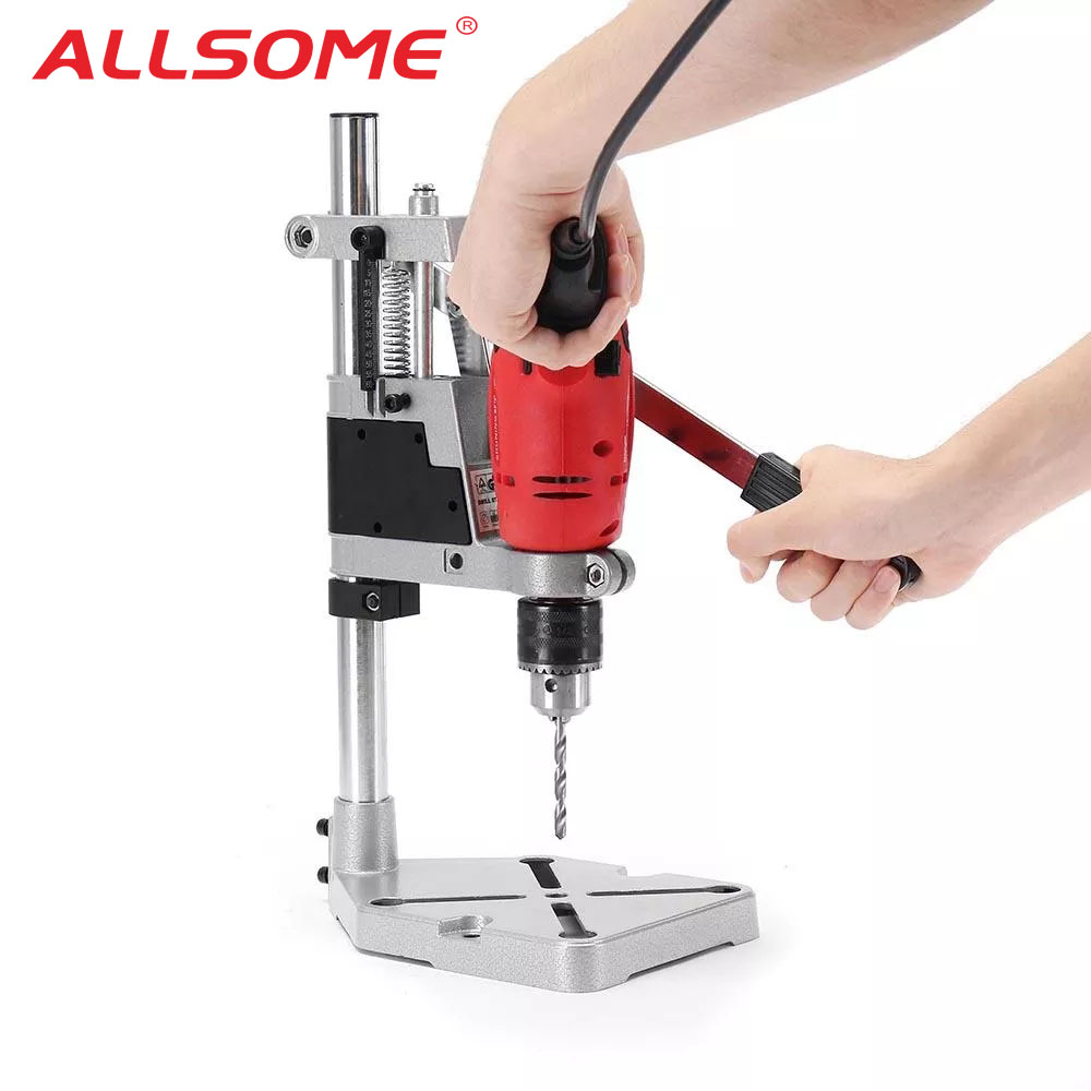 ALLSOME Electric Drill Bracket 400mm Drilling Holder Grinder Rack Stand Clamp Bench Press Stand Clamp Grinder For Woodworking