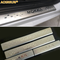 FREE SHIPPING For 2012 2013 2014 OPEL MOKKA VAUXHALL MOKKA STAINLESS DOOR SILL PLATE ENTRY SCUFF