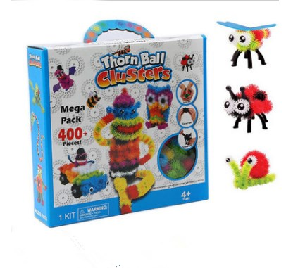 Kid Educational Assemble 3D Puzzle Toys DIY Thorn Puff Ball Squeezed Variety Shape Creative Handmade Toy Puzzles For Children