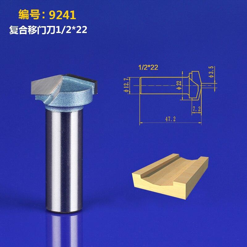 1/2*22mm 2 Flutes 3D Bits Router V-grooving Tools Tideway 9241