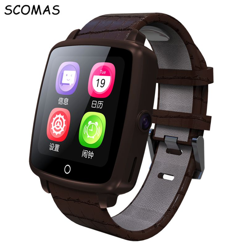 SCOMAS U11C Bluetooth Men's SMART WATCH PHONE TF/SIM Card Slot Camera Touch Screen Smartwatch Clock For Android IOS Cell Phone hot sale smart watch charming l6 sim card ips round screen stainless steel bluetooth smartwatch push or ios android phone high